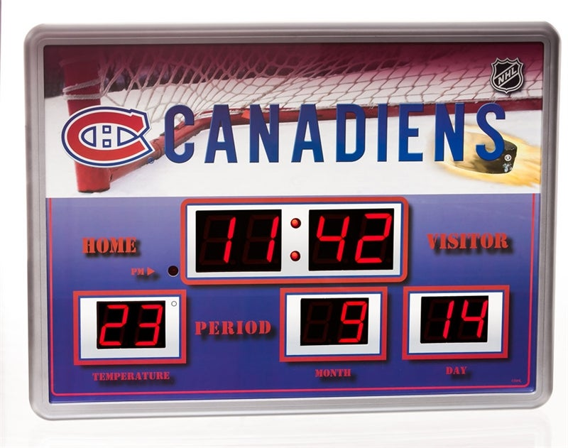 Montreal Canadiens Scoreboard Wall Clock